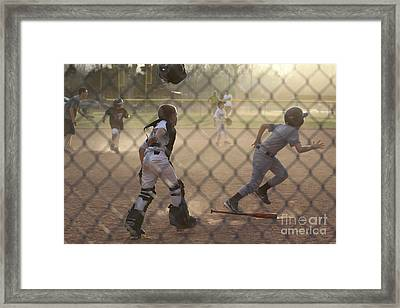 Catcher In Action Framed Print by Chris Thomas