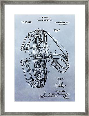 Catcher's Mask Patent Framed Print by Dan Sproul