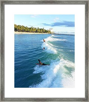 Catchers Wave Framed Print
