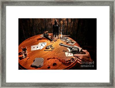 Catching A Cheater Framed Print by Olivier Le Queinec