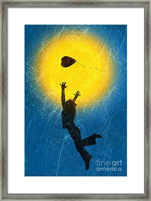 Catching A Heart Framed Print