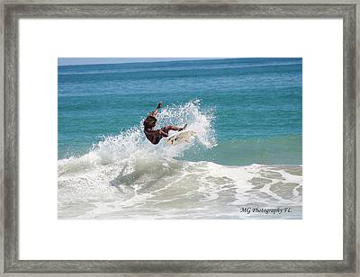Catching Air Framed Print by Marty Gayler