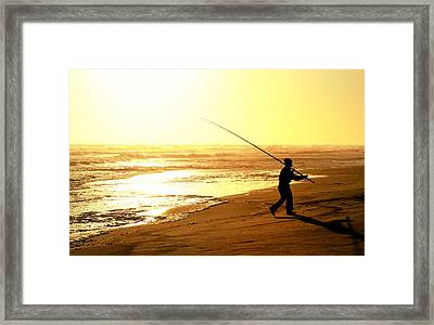 Catching The Last Rays... Framed Print