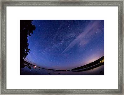 Catching The Milky Way Galaxy Framed Print