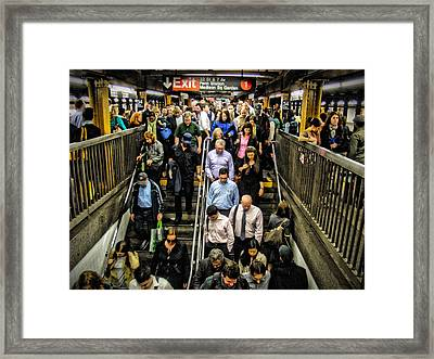 Catching The Subway Framed Print