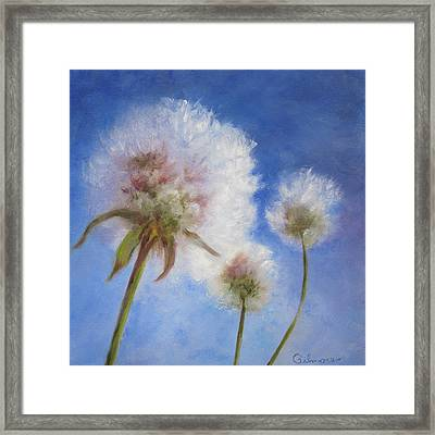 Framed Print featuring the painting Catching The Sun by Roseann Gilmore