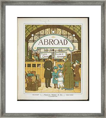 Catching The Train At Charing Cross Framed Print by British Library
