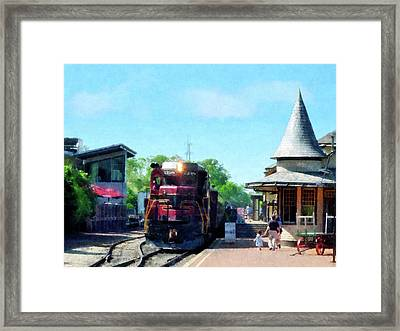 Catching The Train Framed Print