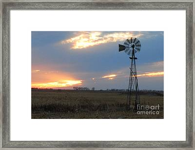 Catching The Wind In South Dakota Framed Print