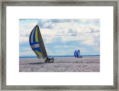 Catching The Wind Framed Print by Michelle and John Ressler