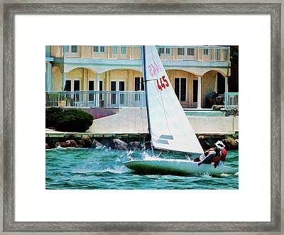 Framed Print featuring the photograph Catching The Wind by Pamela Blizzard