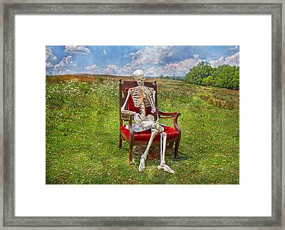 Catching Up On Human Anatomy And Physiology Framed Print by Betsy Knapp