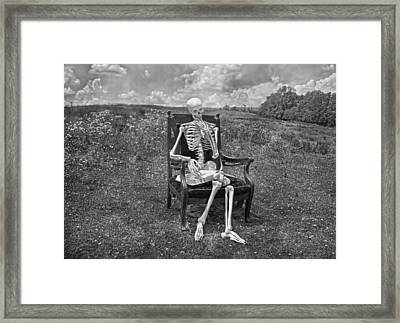 Catching Up On Human Anatomy And Physiology II Framed Print by Betsy Knapp