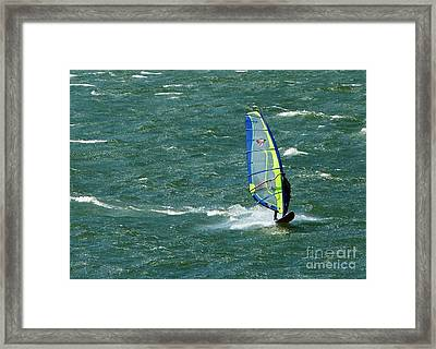 Catching Wind And Surf Framed Print
