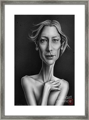 Cate Blanchett Framed Print by Andre Koekemoer