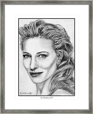 Cate Blanchett In 2007 Framed Print by J McCombie