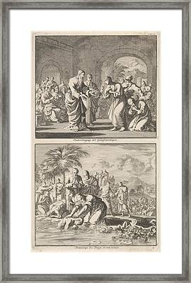 Catechesis Of Five Believers And The Baptism Of New Framed Print