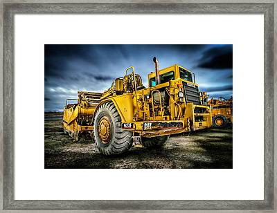 Caterpillar Cat 623f Scraper Framed Print