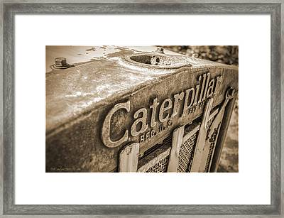 Caterpillar Vintage Framed Print