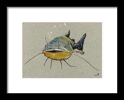Catfish Framed Prints