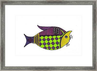 Don't Be A Catfish Framed Print by Nancy Mergybrower