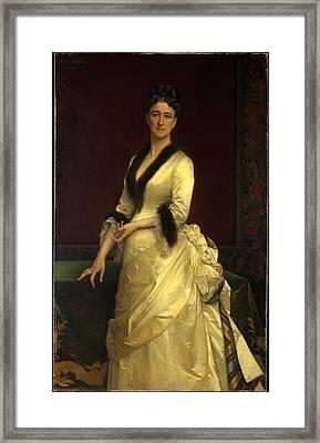Catharine Lorillard Wolfe 1828-1887 Framed Print by Alexandre Cabanel
