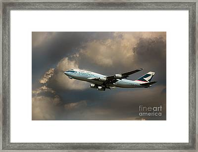 Cathay Pacific B-747 Framed Print