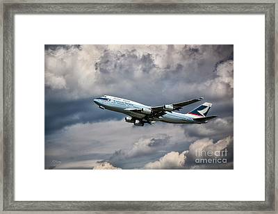 Cathay Pacific Boeing 747-400 Framed Print