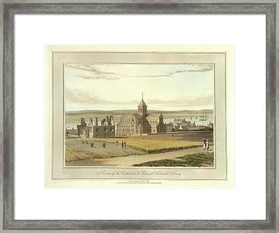 Cathedral And Palace At Kirkwall Framed Print by British Library