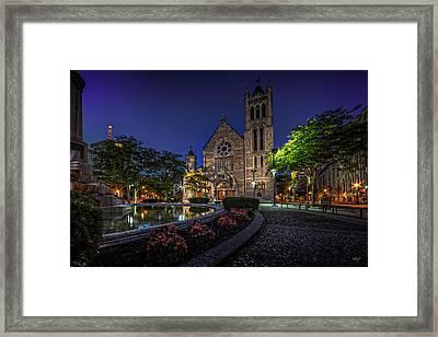 Cathedral At Columbus Circle Framed Print