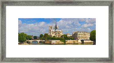 Cathedral At The Riverside, Notre Dame Framed Print