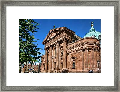 Cathedral Basilica Of Saints Peter And Paul Framed Print by Olivier Le Queinec