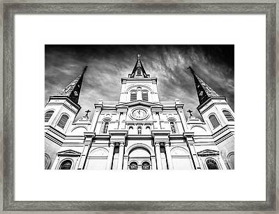 Cathedral-basilica Of St. Louis In New Orleans Framed Print by Paul Velgos