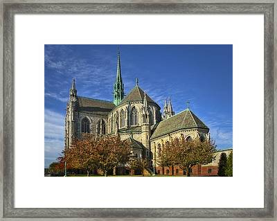 Cathedral Basilica Of The Sacred Heart Framed Print by Susan Candelario