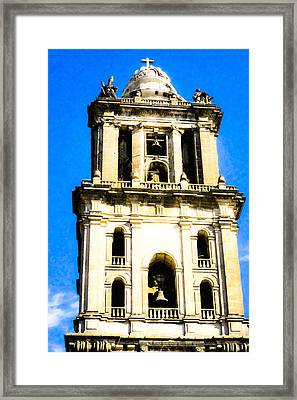 Cathedral Bell Tower - Mexico City Architecture Framed Print