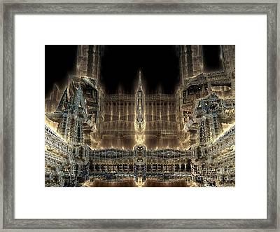 Cathedral By Night Framed Print by Bernard MICHEL