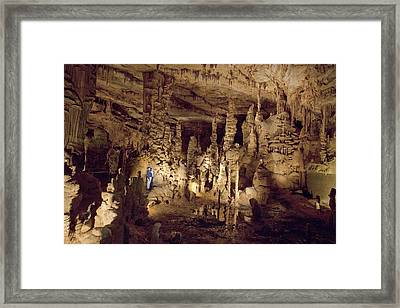 Cathedral Caverns In Woodville Framed Print