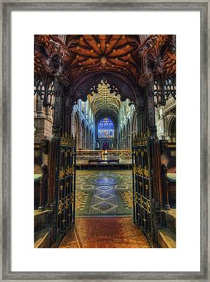 Cathedral Choir Gates Framed Print by Ian Mitchell