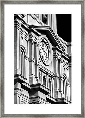 Cathedral Clock Framed Print