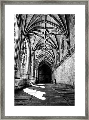 Santiago Cathedral Cloisters Framed Print