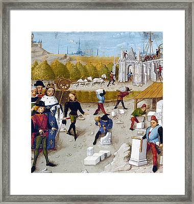 Cathedral Construction Framed Print by Granger