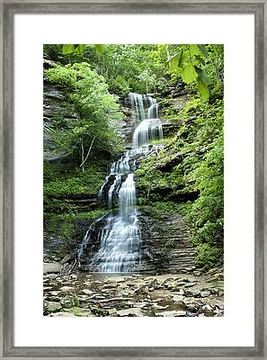 Framed Print featuring the photograph Cathedral Falls by Robert Camp