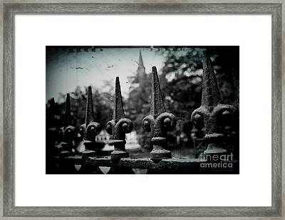Cathedral Fence Framed Print by Scott Pellegrin