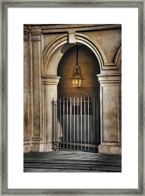Cathedral Gate Framed Print by Brenda Bryant