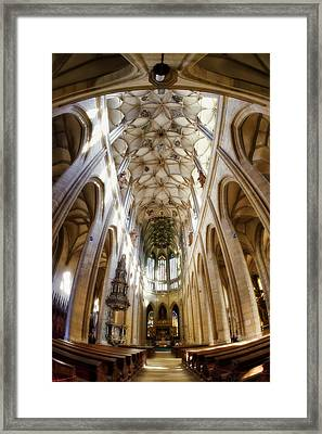 Cathedral Glow Framed Print by Joan Carroll