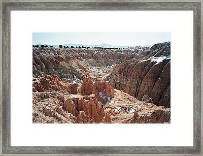 Framed Print featuring the photograph Cathedral Gorge by Jewel Hengen