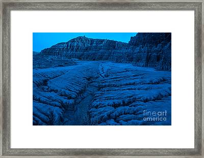 Cathedral Gorge Moonlight Erosion - Nevada Framed Print