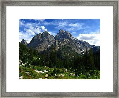 Cathedral Group From The Northwest Framed Print by Raymond Salani III