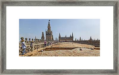 Cathedral In A City, Seville Cathedral Framed Print by Panoramic Images