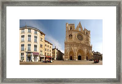 Cathedral In A City, St. Jean Framed Print by Panoramic Images